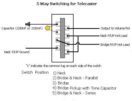 5 way switch with \