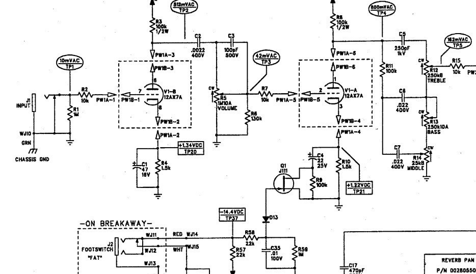 Help with Blues Junior Troubleshooting | Telecaster Guitar Forum Fender Blues Jr Schematic on