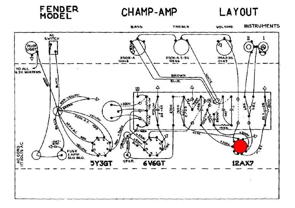 fender champ amp wiring diagram