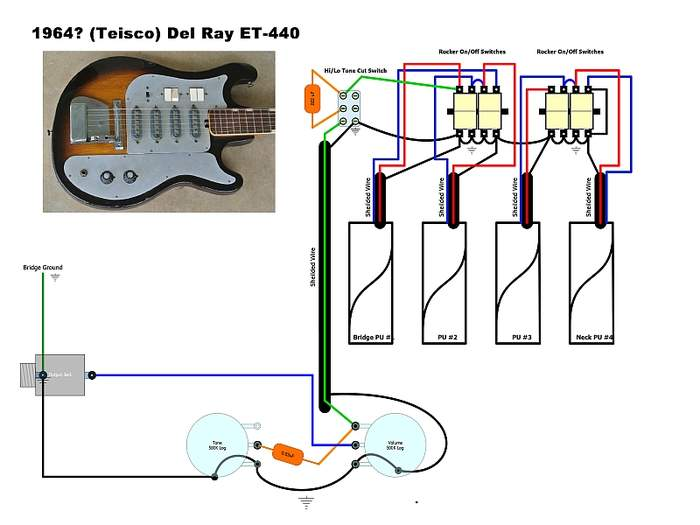 model of del ray teisco telecaster guitar forum rh tdpri com Radio Wiring Diagram Humbucker Wiring-Diagram