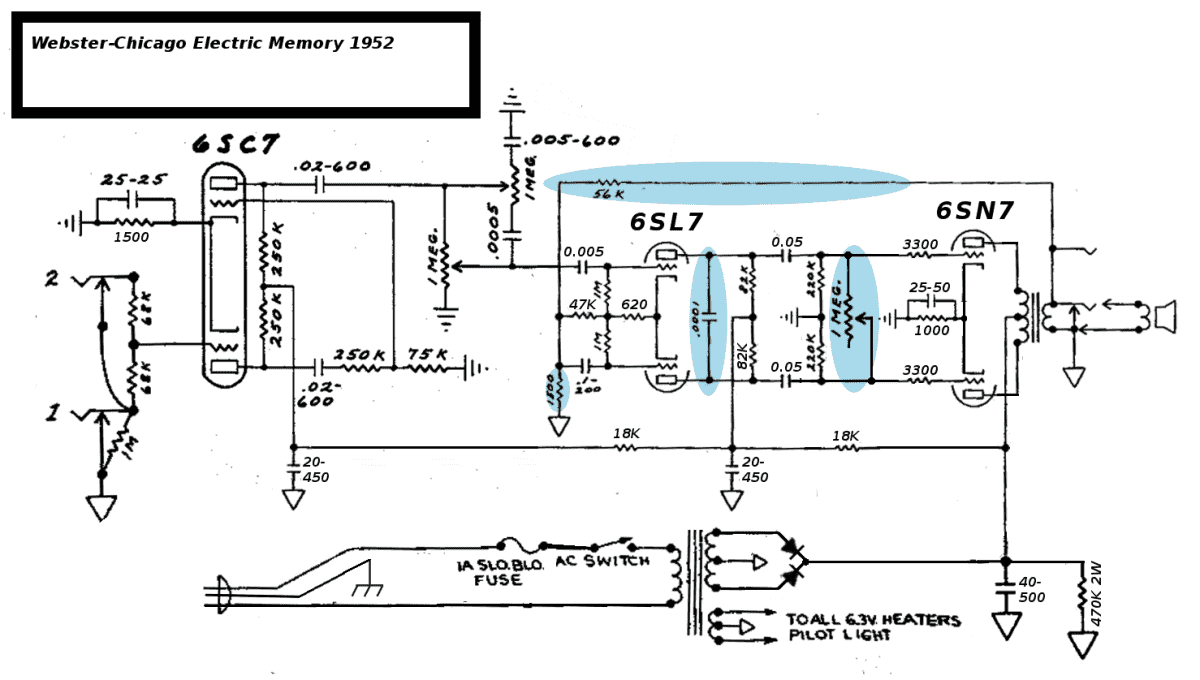 All Octal Push Pull 6sn7 Tape Recorder Amp Telecaster Guitar Forum In Addition Tube Schematic On Amplifier Electric Memory 5c2