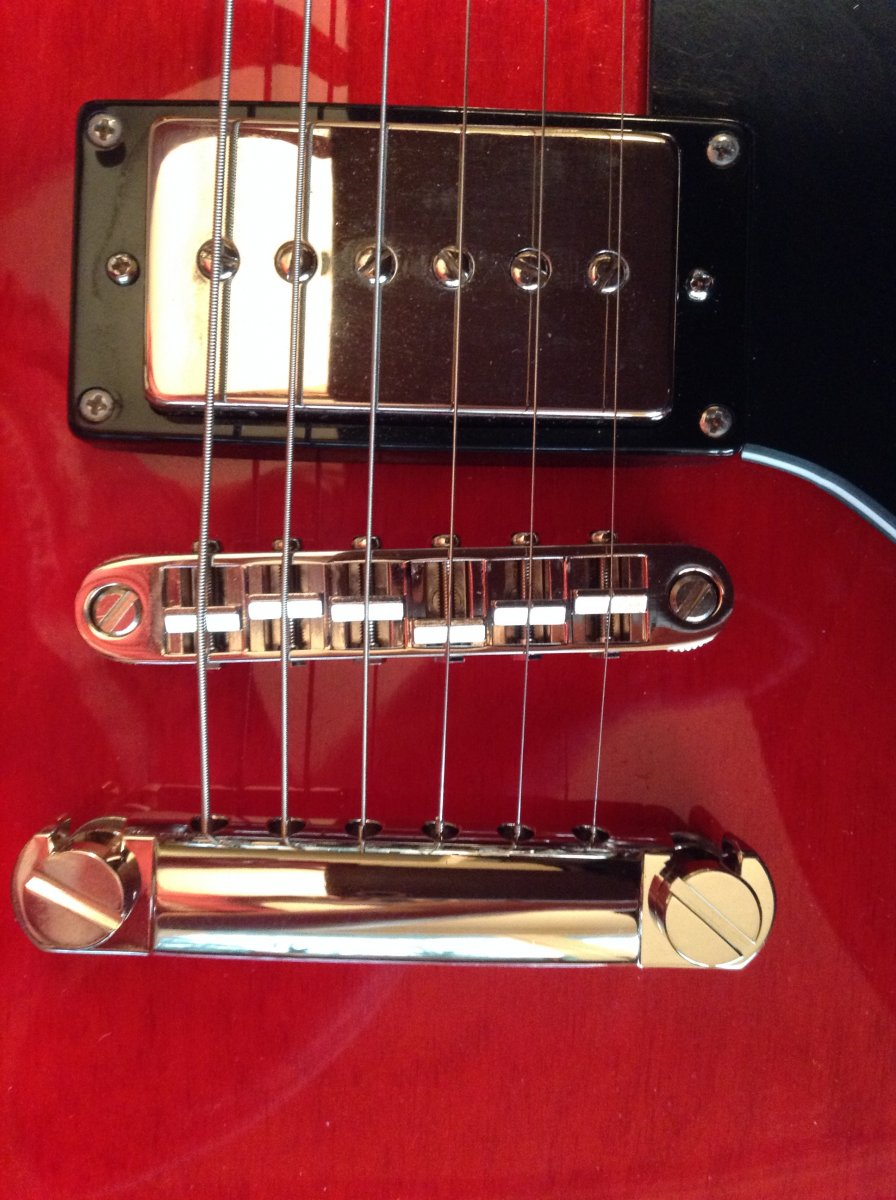 If you have a stock overseas Epiphone    (new Gotoh bridge