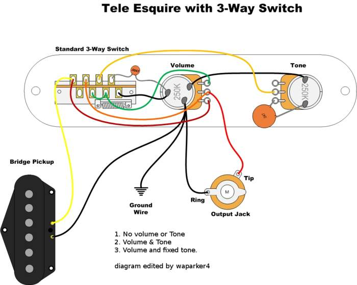 Esquire wiring options wiring library esquire wiring question the gear page rh thegearpage net 3 way switch wiring diagram variations asfbconference2016 Images