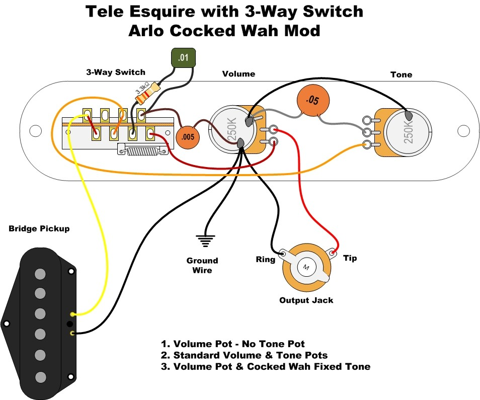 Esquire Wiring Diagram Humbucker : Combining esquire diagrams telecaster guitar forum