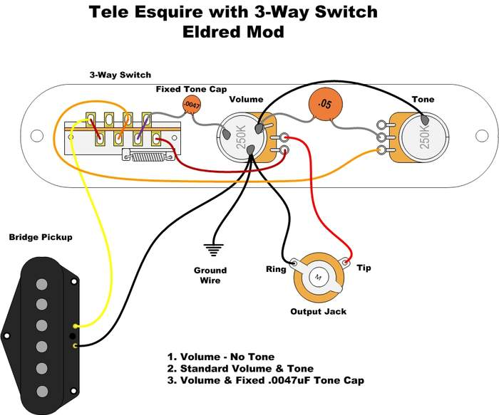 esquire and 3way switch wiring question telecaster guitar forum rh tdpri com Google Wiring Diagrams Vintage Fender Esquire Wiring-Diagram
