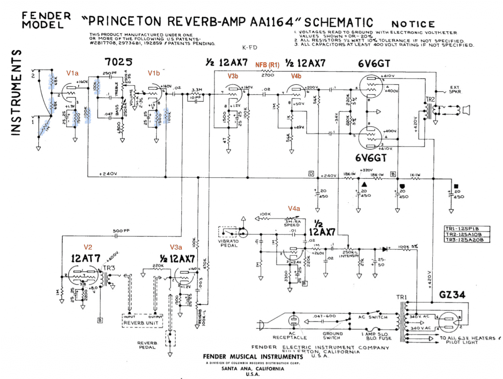 Fender Princeton Wiring Diagram Schematic Diagrams Esquire Guitar Aa1164 Diy Enthusiasts U2022