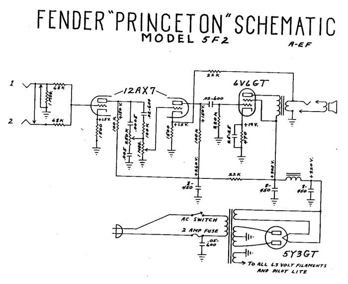 trying to understand tube amp theory and schematics telecaster tube headphone amp fender_princeton_5f2_schematic jpg