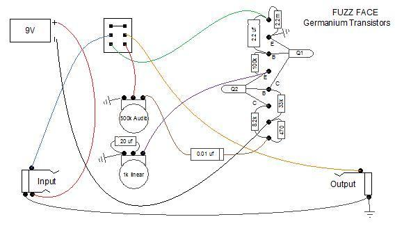 fuzz face point to point diagram? telecaster guitar forum fuzz face wiring diagram at webbmarketing.co