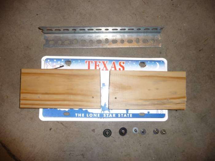 Materials for license plate pedalboard