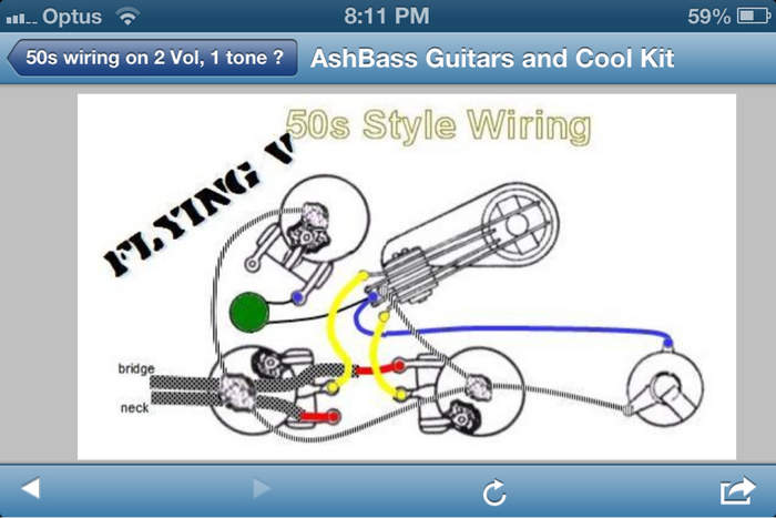 50s wiring on 2 vol 1 tone telecaster guitar forum rh tdpri com