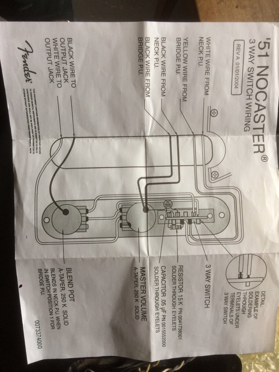 muffled neck pickup '51 nocaster setup telecaster guitar forum Osterizer Blender Schematics at edmiracle.co
