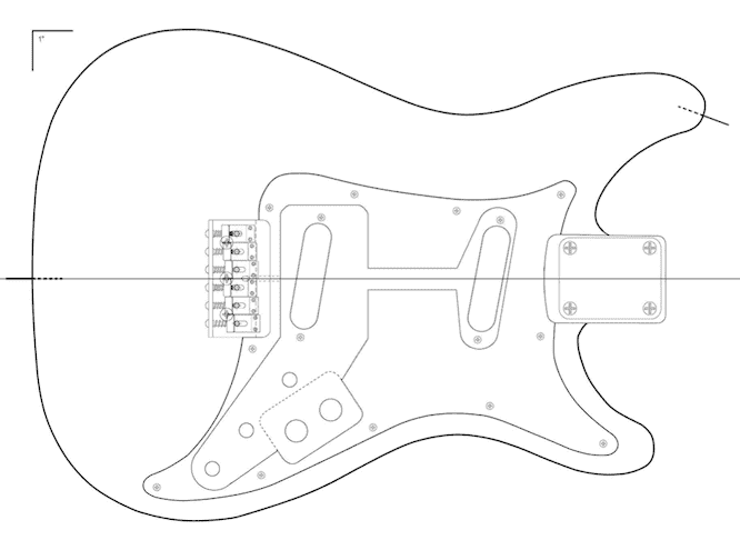 Huge idea guide firebird guitar plans pdf for Stratocaster headstock template