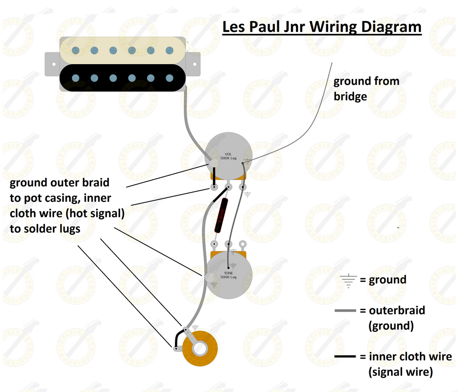 Les Paul Junior Wiring