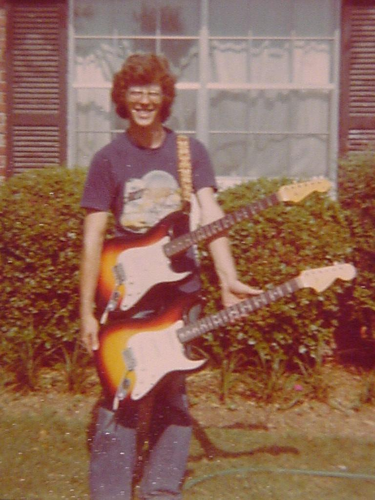 Mike w 2 Strats - 64 and 66.JPG