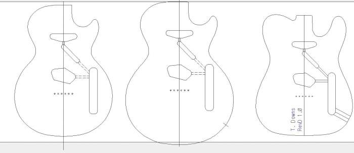 printable guitar template pdf page 2 telecaster guitar forum