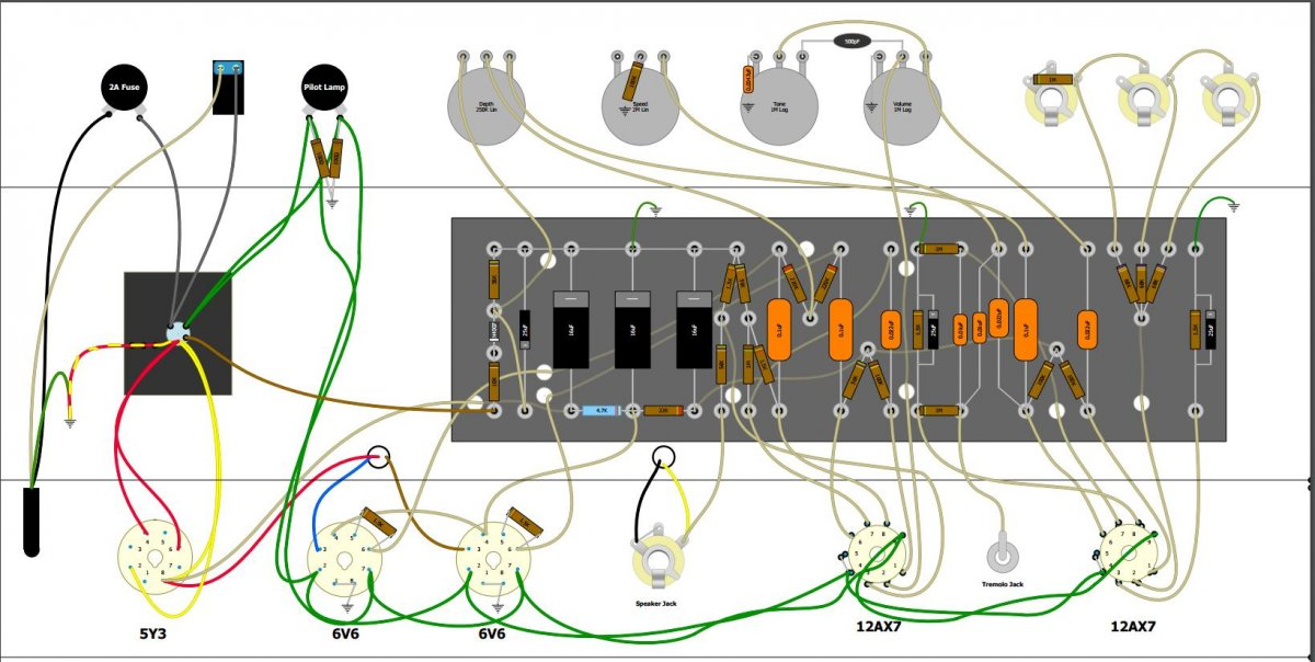 wiring the standby switch on a 5f11 tweed vibrolux kit fender 5f11 wiring diagram at bakdesigns.co