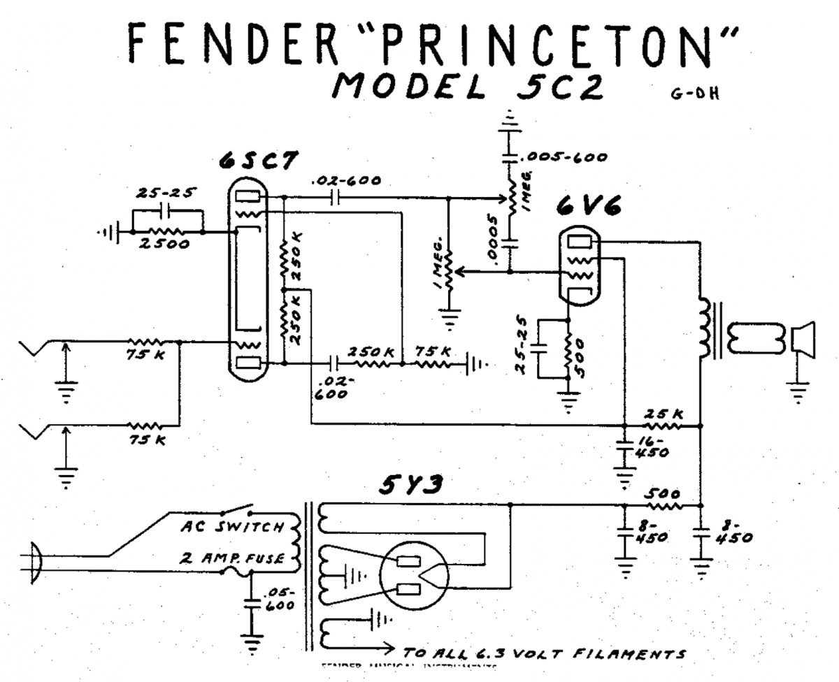 All Octal Push Pull 6sn7 Tape Recorder Amp Telecaster Guitar Forum In Addition Tube Schematic On Amplifier Princeton 5c2