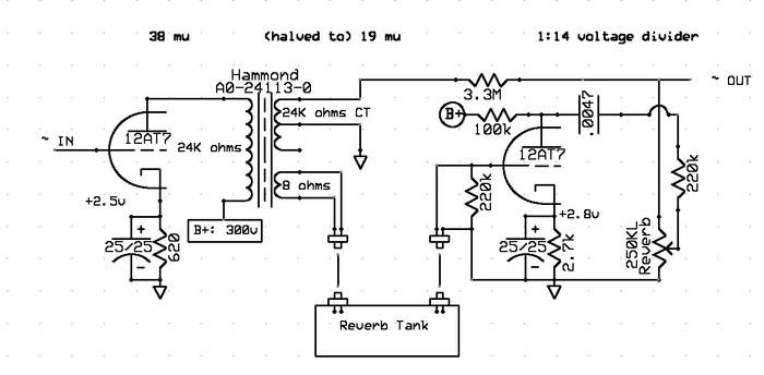 reverb driver schematic