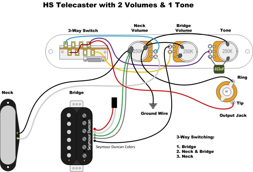 2 volume 1 tone wiring diagram 2 humbucker 1 volume 3 tone wiring diagram tele wiring for 2 vol 1 tone with gibson toggle switch ... #13