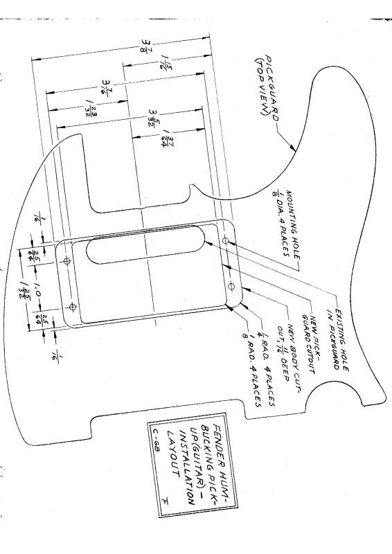 Cutting a Pickguard for Neck Humbucker pdf | Telecaster Guitar Forum