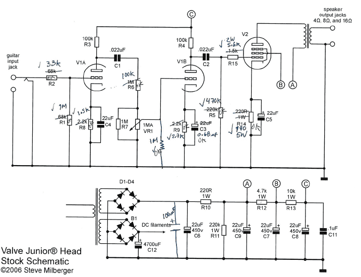 wiring diagram epiphone junior