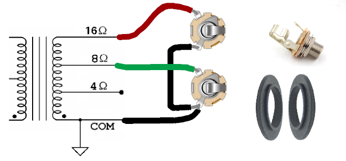 [EQHS_1162]  How to wire separate 8 Ohm and 16 Ohm speaker input jacks? | Telecaster  Guitar Forum | Wiring Diagram Output Tramsformer 4 8 16 Ohm |  | TDPRI.com