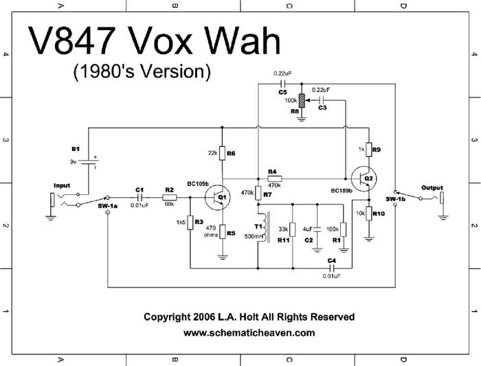 Modded Vox Wah... need troubleshooting advice | Telecaster Guitar Forum | Vox Wah Wiring Diagram |  | TDPRI.com