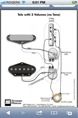 Two volume no tone wiring!! Please help! | Telecaster Guitar Forum
