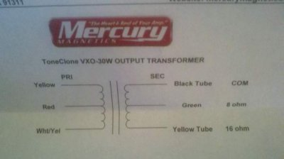 installing mercury magnetics ot into vox ac30 telecaster guitar forum Power Transformer Mercury Magnetics at Mercury Magnetics Transformer Wiring Diagram