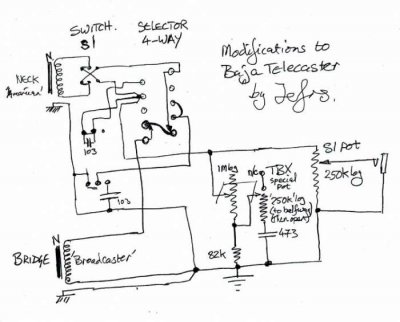 Baja Telecaster Schematic | Telecaster Guitar Forum on stratocaster wiring diagram, the strat wiring diagram, strat pickguard wiring diagram, gibson bass wiring diagram, guitar wiring diagram,