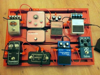 New Pedal Board Layout And The Most Girly Pedal Telecaster Guitar