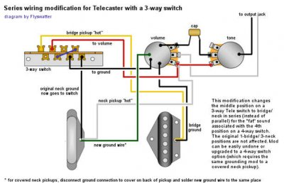 series pup wiring on a 3 way switch telecaster guitar forum rh tdpri com  Telecaster 5 Way Super Switch Wiring Diagram
