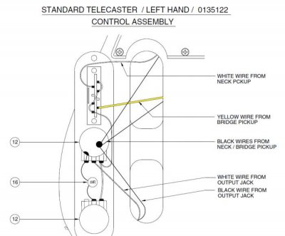 left handed wiring diagrams telecaster guitar forum