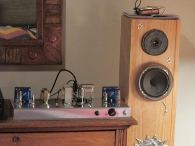 12AB5/12AV6 low cost SE tube integrated amplifier (with pics