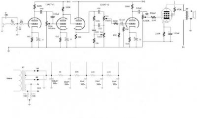 Vox AC4C1 schematic and mod ideas | Telecaster Guitar Forum on