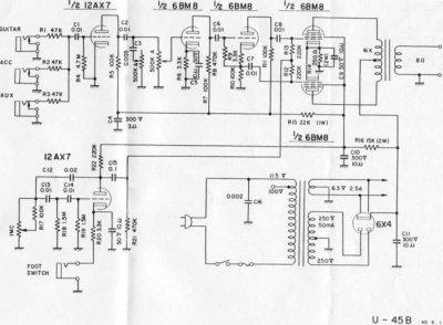 Univox Amp Schematic - Wiring Diagram Sq on