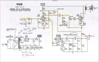 Vox AC4 Power Transformer Question | Telecaster Guitar Forum Ac Schematic on