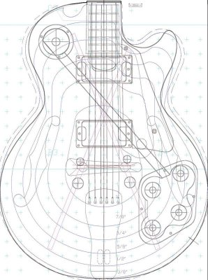 les paul top carving template - designing a carve top telecaster guitar forum