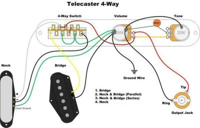 4 way switch wiring diagram fender anyone else not like the 4 way switch in their tele  telecaster  4 way switch in their tele