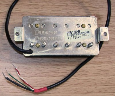 Need Help on    Wiring    Duncan Design HB102 Humbuckers