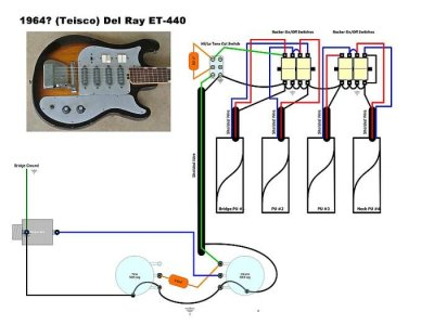 model of del ray teisco telecaster guitar forum Danelectro Wiring