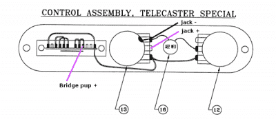 96 Fat Tele wiring help??? | Telecaster Guitar Forum Fat Telecaster Wiring Diagram on