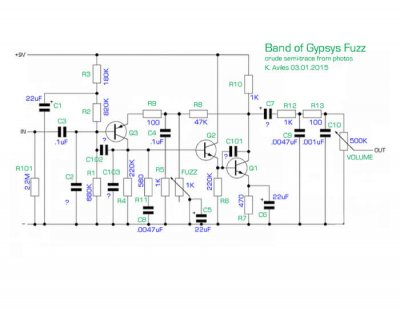 Perf and PCB Effects Layouts: Dunlop Band of Gypsys Fuzz Face Fuzz Face Schematic on wah schematic, distortion schematic, mutron iii schematic, ts9 schematic, compressor schematic, univibe schematic, simple tube amp schematic, solar charge controller schematic, super fuzz schematic, simple fuzz box schematic, 3 pole double throw switch schematic, harmonic percolator schematic, muff fuzz schematic, tremolo schematic, overdrive schematic, marshall schematic, colorsound overdriver schematic, tube screamer schematic, fuzz pedal schematic, tube driver schematic,