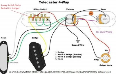 4 way switch wiring diagram power at light oak grigsby 4 way switch wiring diagram 4-way switch - antenna theory: how does phostenix noise reduction jumper work? | telecaster ... #14