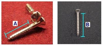 12 Fender Vintage Slotted Bridge Strap Button Mounting Screws 0018371049