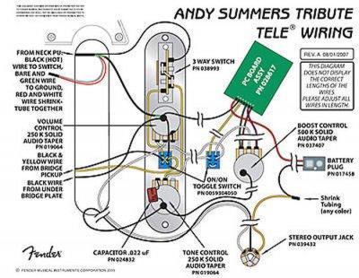 Andy Summers FCS Tele preamp design | Telecaster Guitar ForumTDPRI.com