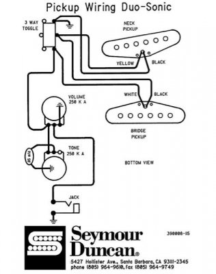 Series wiring on CV Duo-sonic... | Telecaster Guitar Forum on