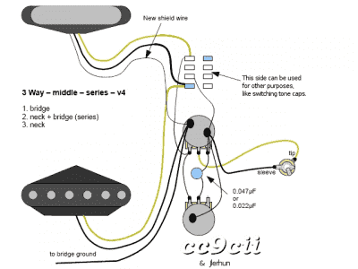 series wiring with 3 way telecaster guitar forum Telecaster 3 Pickup Wiring Diagrams 3way middle series v4 png