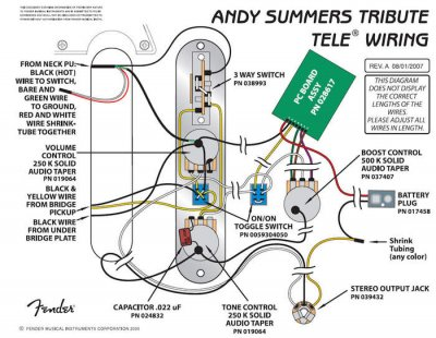 an stereo output jack on andy summers 39 tribute tele how. Black Bedroom Furniture Sets. Home Design Ideas