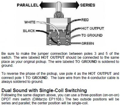 dimarzio dual sound wiring diagram need help    series split parallel with dpdt  on on on  3way  series split parallel with dpdt
